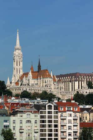 Matthias church and Fishermans tower Budapest city