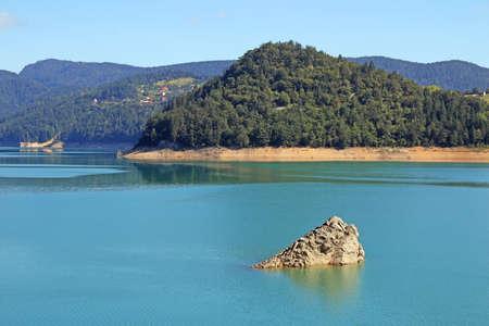 Lake Zaovine Tara mountain landscape