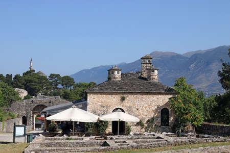 old stone house and Aslan Pasha mosque Ioannina Greece