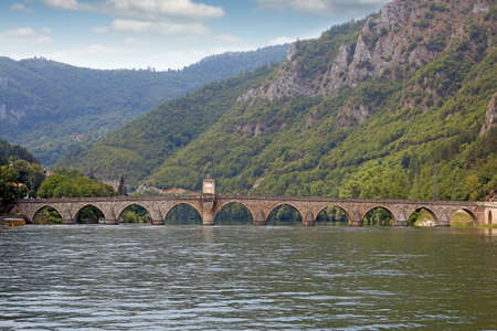 old stone bridge Visegrad Bosnia landscape