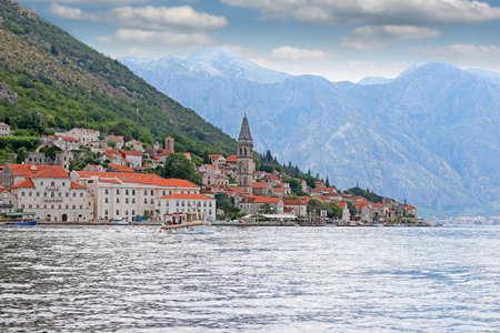 old town Perast Kotor bay Montenegro Фото со стока