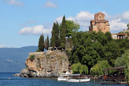 Jovan Kaneo church Ohrid most famous orthodox church in Macedonia Stock Photo