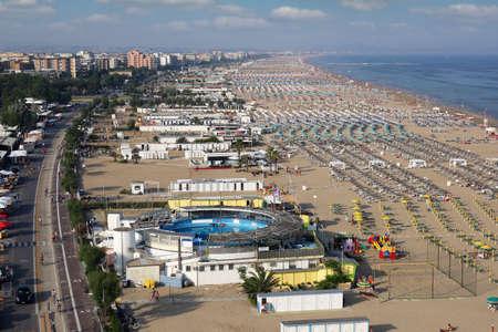 Rimini beach Italy in summer season