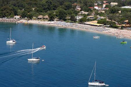 Valtos beach in summer resort Parga Greece Stock Photo