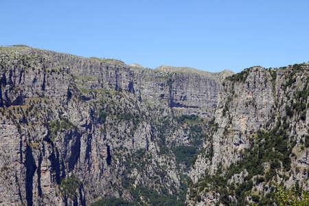 Vikos Gorge landscape Zagoria Epirus Greece summer season 版權商用圖片