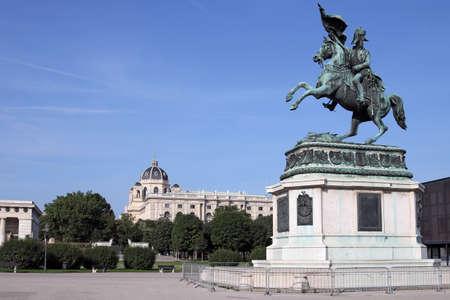 Equestrian statue of Archduke Karl on Heldenplatz in Vienna Austria