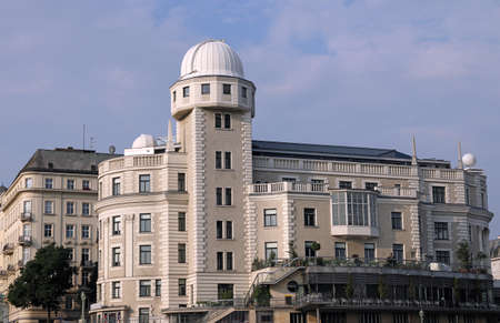 Bâtiment Urania abritant un établissement d'enseignement et un observatoire à Vienne Autriche
