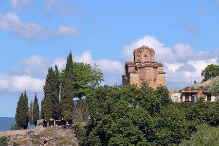 Jovan Kaneo church Lake Ohrid landscape North Macedonia