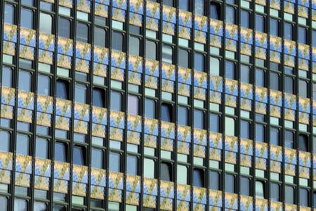 building facade wall and windows detail Vienna Austria Reklamní fotografie