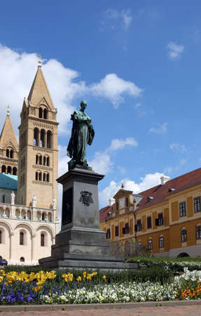 the Cathedral of Pecs and monument landmark Hungary