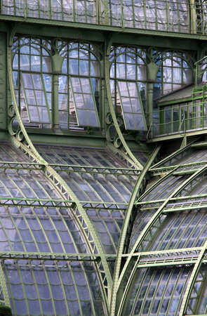greenhouse windows detail in Vienna Austria  Stok Fotoğraf