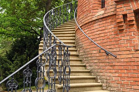 Aussichtsturm Paulinenwarte strairway detail in Turkenschanzpark Vienna