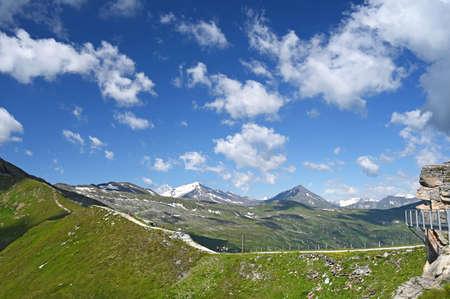 people hiking on the Stubnerkogel mountain Bad Gastein Austria