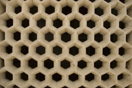 The marble net  honeycomb-like structure photo