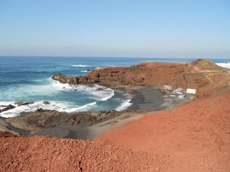 golfo: Next to El Golfo, Lanzarote, Canary Islands