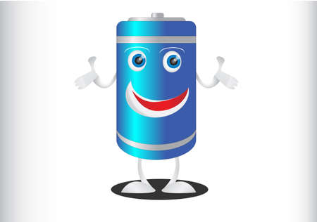Battery Professional Look Mascot photo