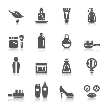 Beauté et cosmétiques icônes Banque d'images - 30290956