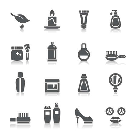 Beauty and Cosmetic Icons Illustration