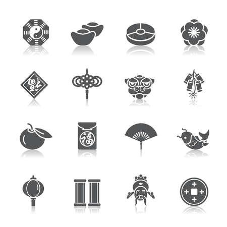 Chinese New Year Icons Ilustracja