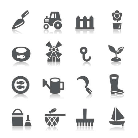 Agriculture and Fisheries Icons Vector