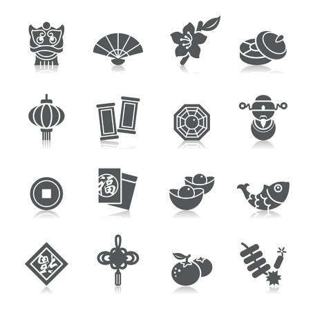 Chinese New Year Icons Vettoriali