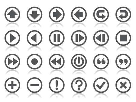 exclamation mark: Los iconos del Panel de control Vectores