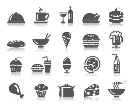 Food and Drinks Icons Zdjęcie Seryjne - 30290981
