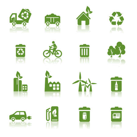 garbage bag: Environmental Protection Icons