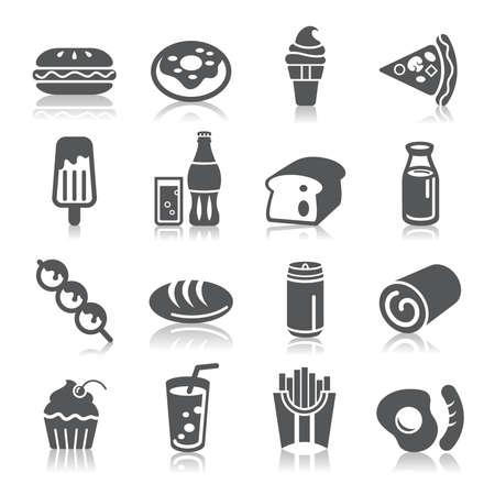 comida chatarra: Alimentos y Bebidas Iconos