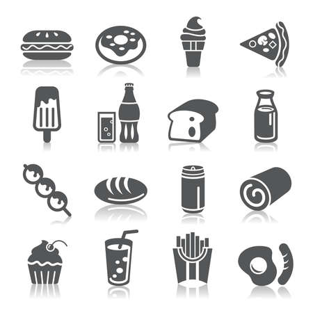 fast food restaurant: Food and Drinks Icons