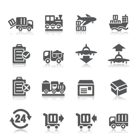 iconos de transporte: Log�stica y Transporte Iconos