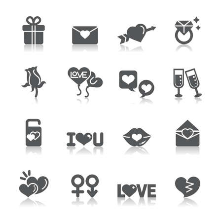 Valentines and Love Icons Ilustracja