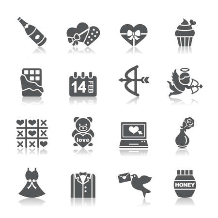 chocolate box: Valentines and Love Icons Illustration