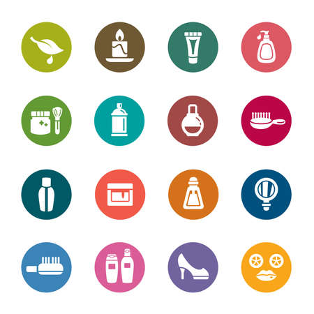 toiletry: Beauty and Cosmetic Color Icons