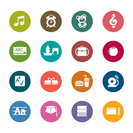 Education Color Icons Vector