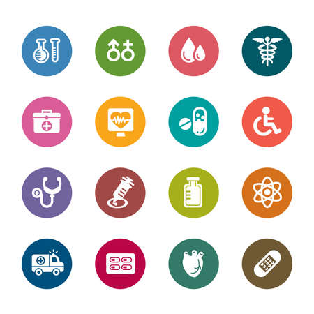 blood pressure: Medical Color Icon
