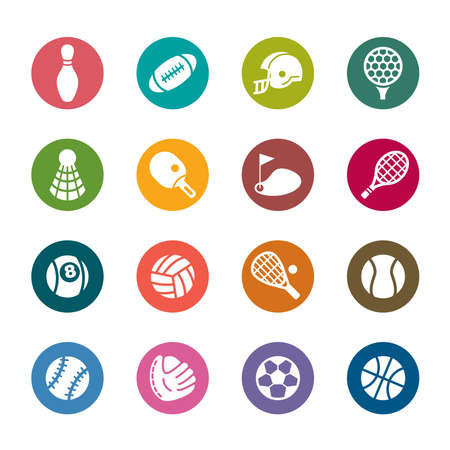 Sport Color Icons Vector