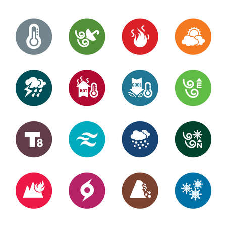 Weather Color Icons Vector