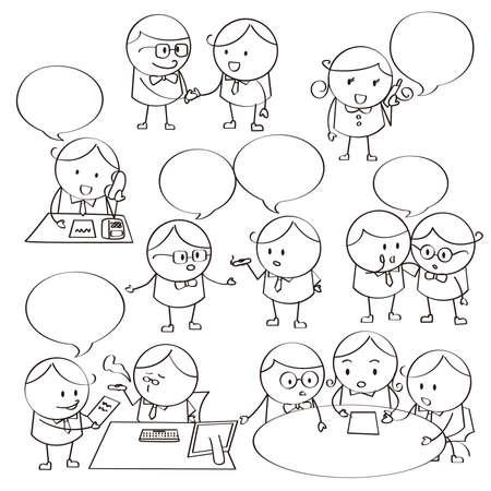 dibujos lineales: Comunicaciones Ejecutivo