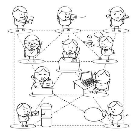 Businessman Communications Vector