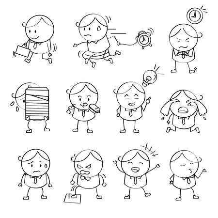 Businessman Emotion Illustrations Vector