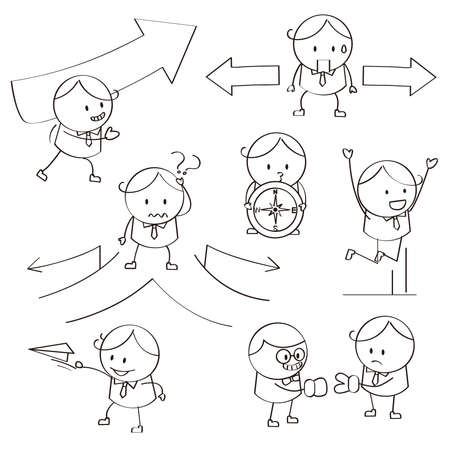 questioning: Businessman Illustrations