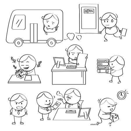 delay: Businessman Illustrations
