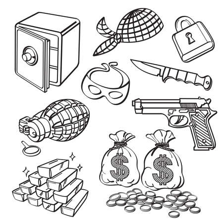 Crime Element Collection Vector