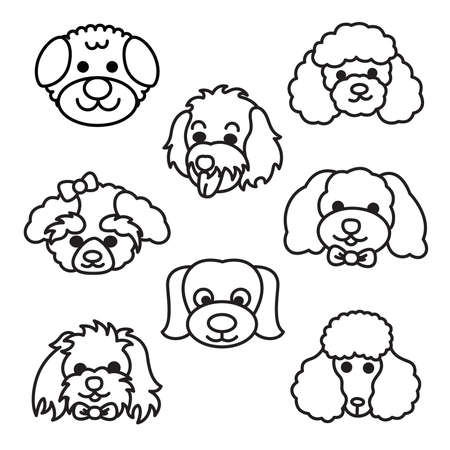 poodle: Cartoon Dogs Illustration