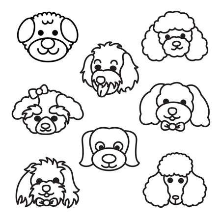 Perros de la historieta Ilustración de vector