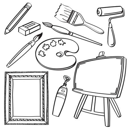Drawing Tools Collection Vector