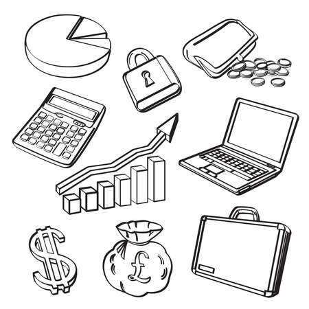 Financial   Business Icon Set 向量圖像