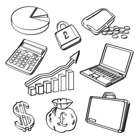 Financial   Business Icon Set Zdjęcie Seryjne - 30365705