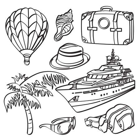 Holiday Trip Elements Vector